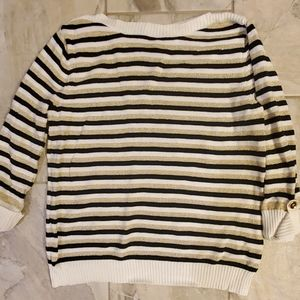 Metallic gold stripe sweater